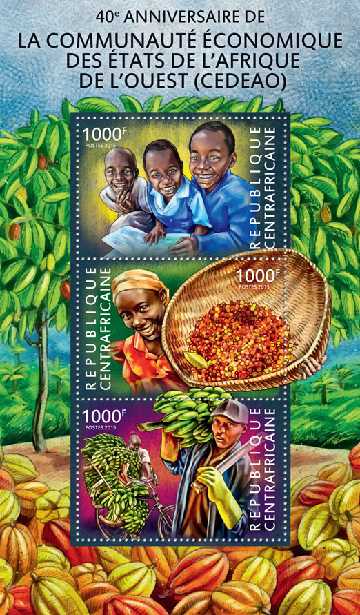 Economic Community of Western African States - Issue of Central African republic postage stamps