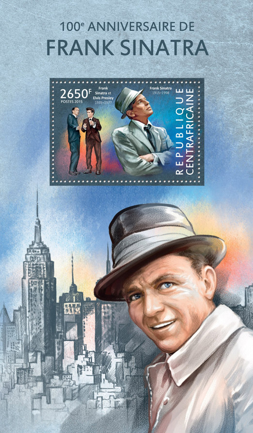 Frank Sinatra - Issue of Central African republic postage stamps