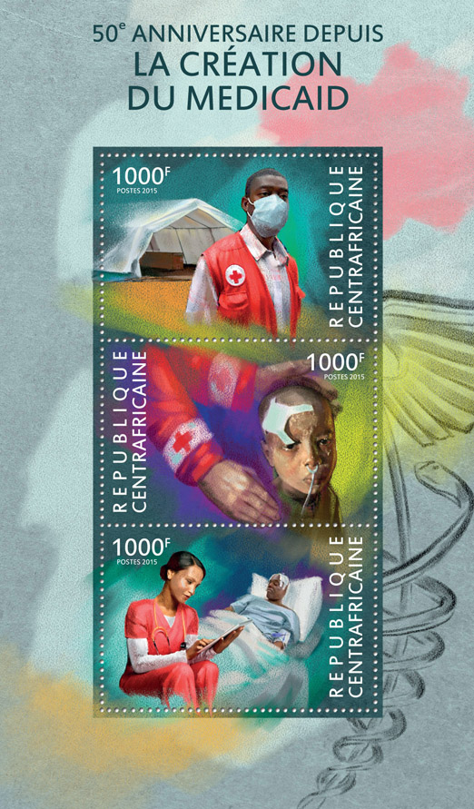Medicaid - Issue of Central African republic postage stamps