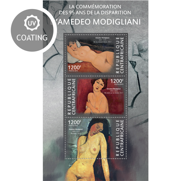 Amedeo Modigliani - Issue of Central African republic postage stamps