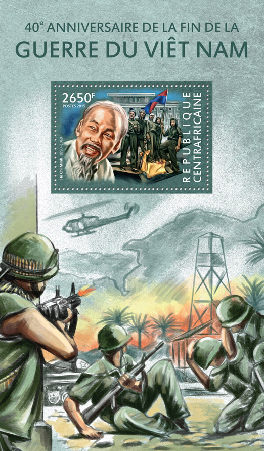 Vietnam war - Issue of Central African republic postage stamps