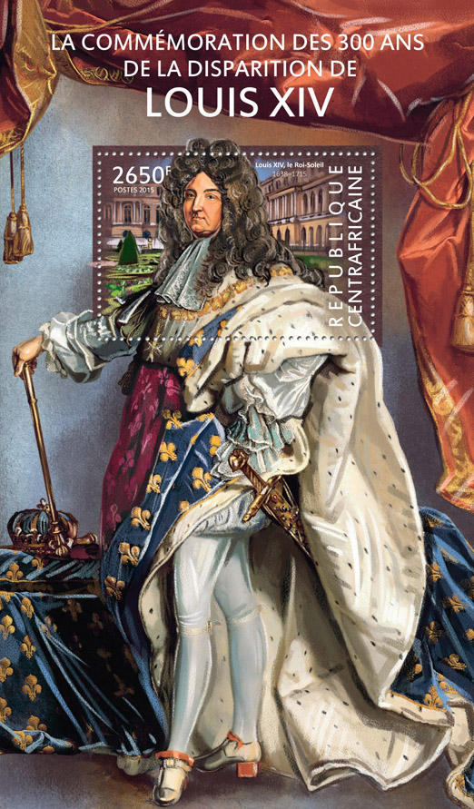 Louis XIV - Issue of Central African republic postage stamps