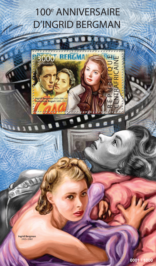 Ingrid Bergman - Issue of Central African republic postage stamps