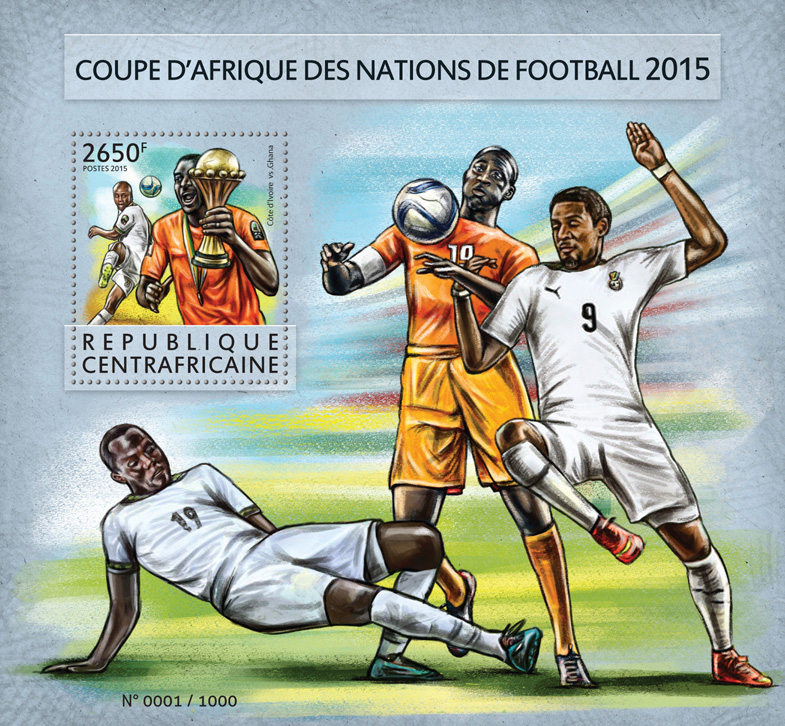 Football - Issue of Central African republic postage stamps