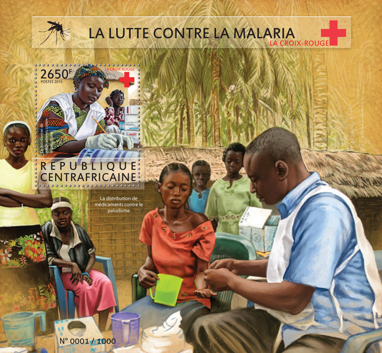 Fight malaria - Issue of Central African republic postage stamps