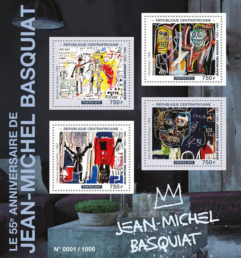 Jean‑Michel Basquiat - Issue of Central African republic postage stamps
