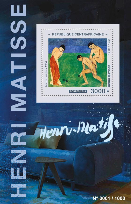 Henri Matisse - Issue of Central African republic postage stamps