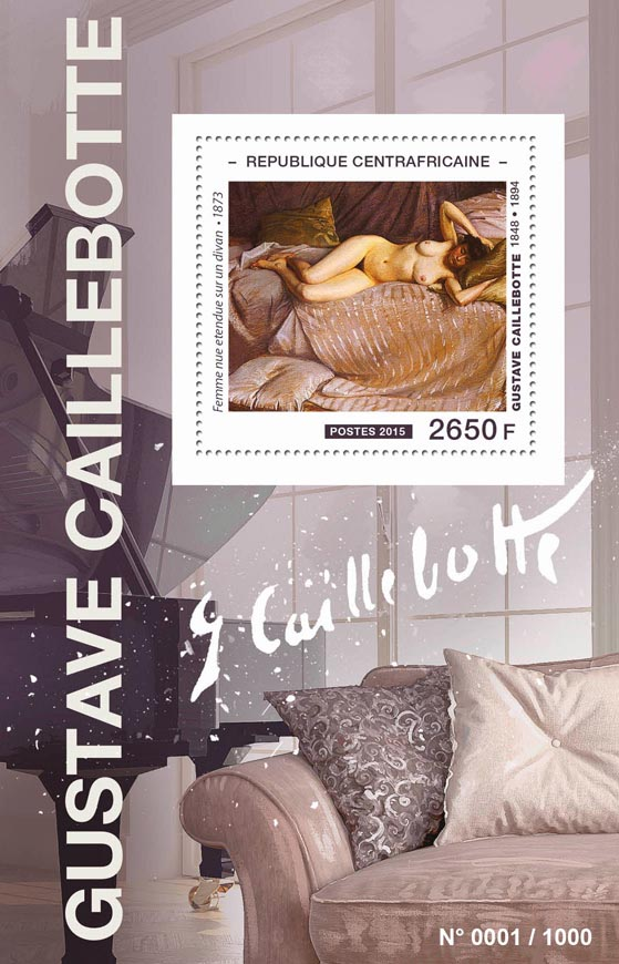 Gustave Caillebotte - Issue of Central African republic postage stamps