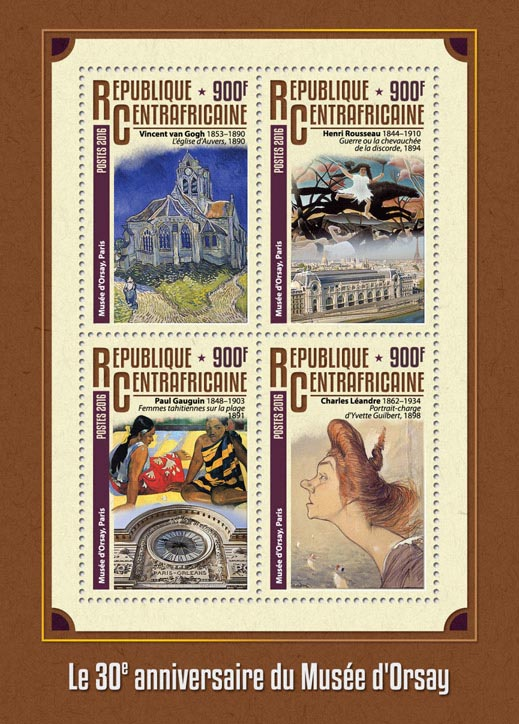 Orsay museum - Issue of Central African republic postage stamps