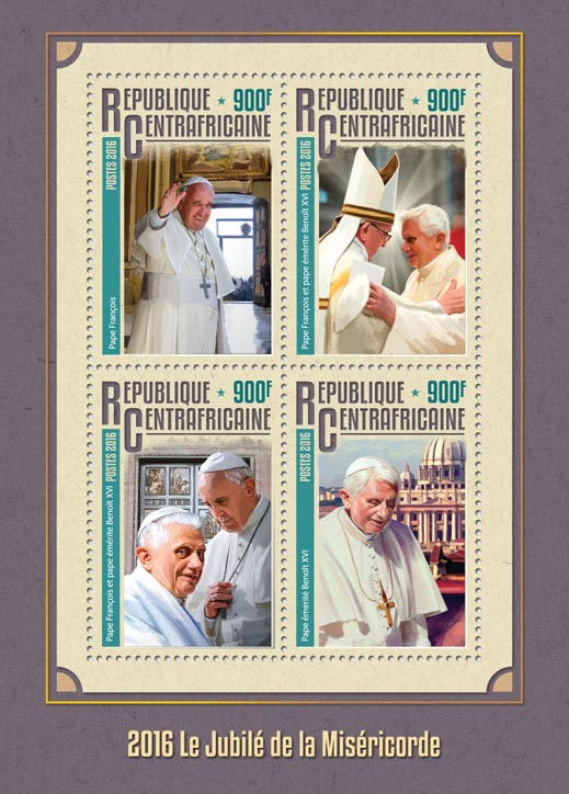 Jubilee of Mercy - Issue of Central African republic postage stamps