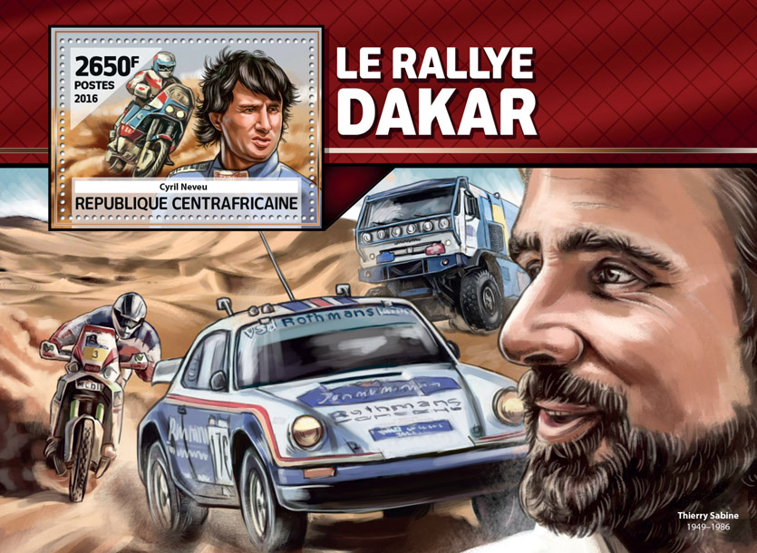 Dakar Rally - Issue of Central African republic postage stamps