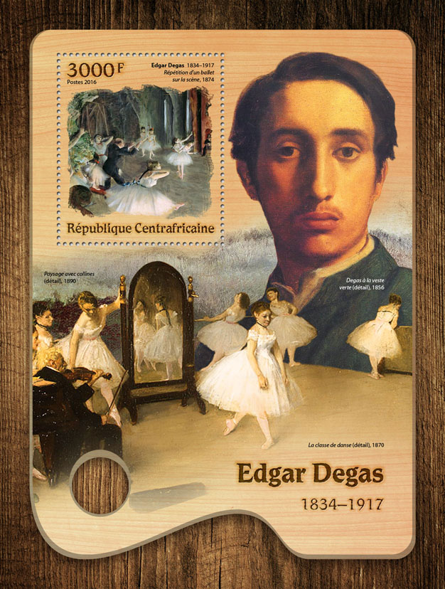 Edgar Degas - Issue of Central African republic postage stamps