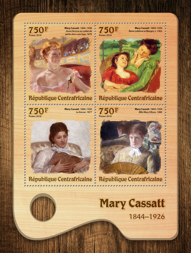 Mary Cassatt - Issue of Central African republic postage stamps