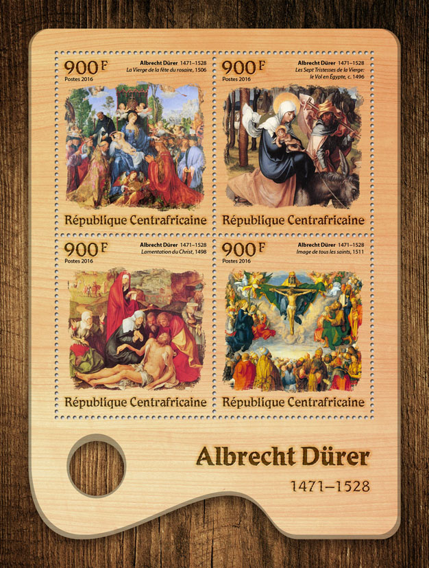 Albrecht Dürer - Issue of Central African republic postage stamps