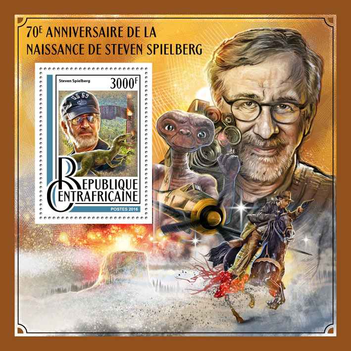 Steven Spielberg - Issue of Central African republic postage stamps