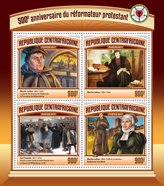 Reformation - Issue of Central African republic postage stamps
