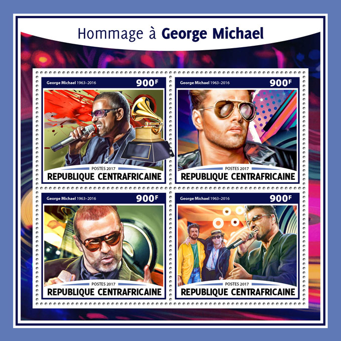 George Michael - Issue of Central African republic postage stamps