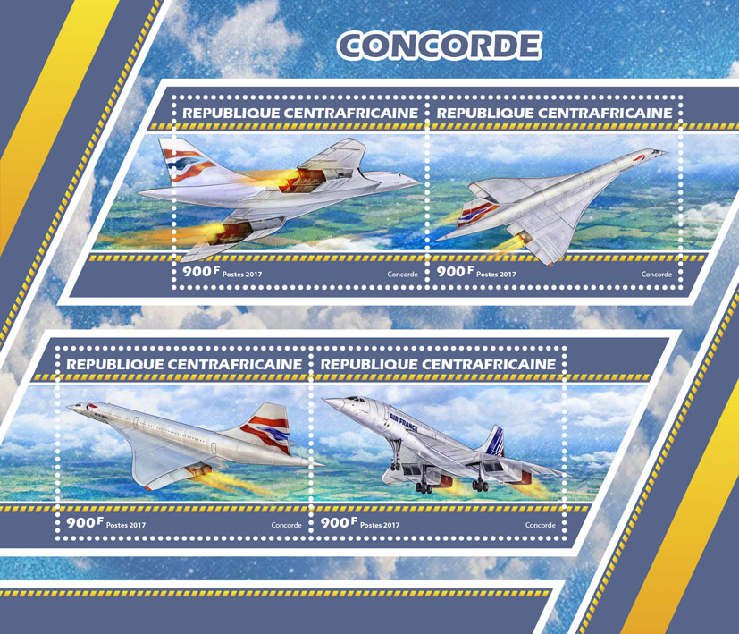 Concorde - Issue of Central African republic postage stamps