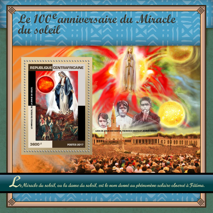 Miracle of the Sun - Issue of Central African republic postage stamps