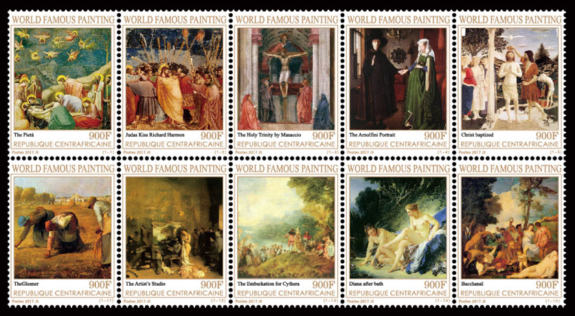 Paintings I - Issue of Central African republic postage stamps