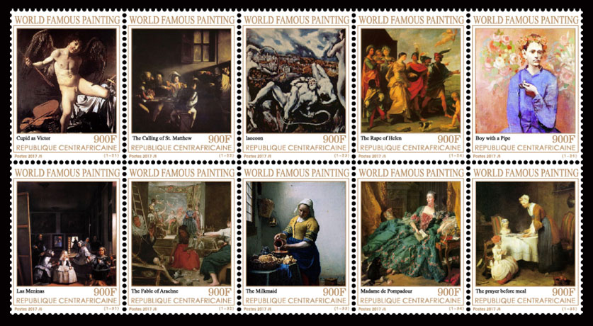 Paintings II - Issue of Central African republic postage stamps
