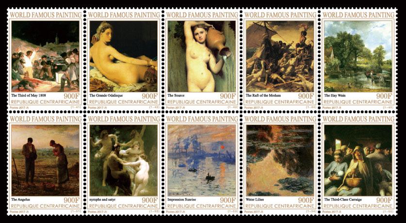 Paintings III - Issue of Central African republic postage stamps