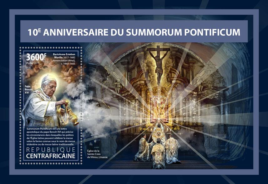 Summorum pontificum - Issue of Central African republic postage stamps