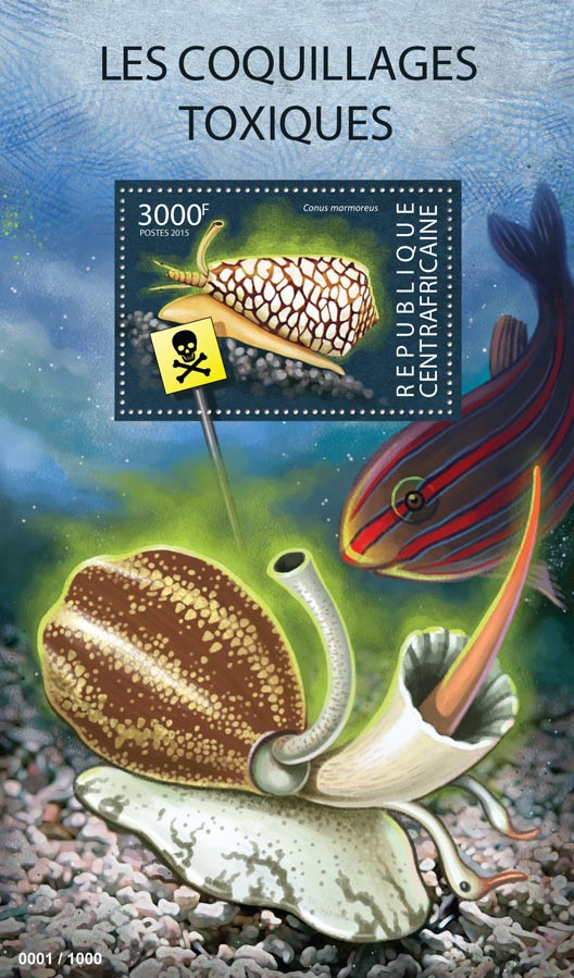 Shells - Issue of Central African republic postage stamps