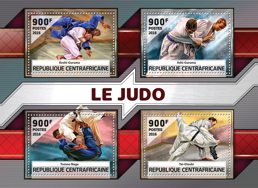 Judo - Issue of Central African republic postage stamps
