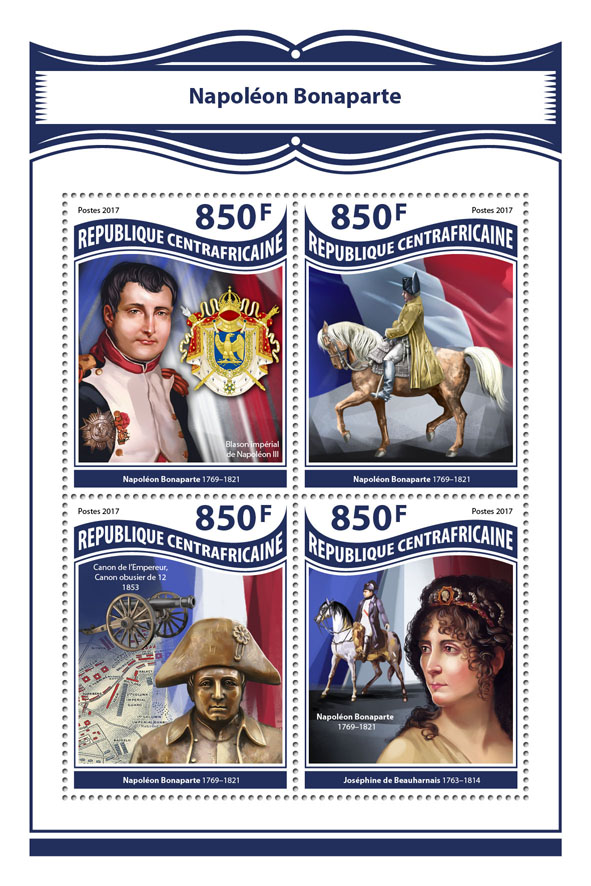 Napoleon Bonaparte - Issue of Central African republic postage stamps