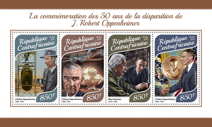 J. Robert Oppenheimer - Issue of Central African republic postage stamps