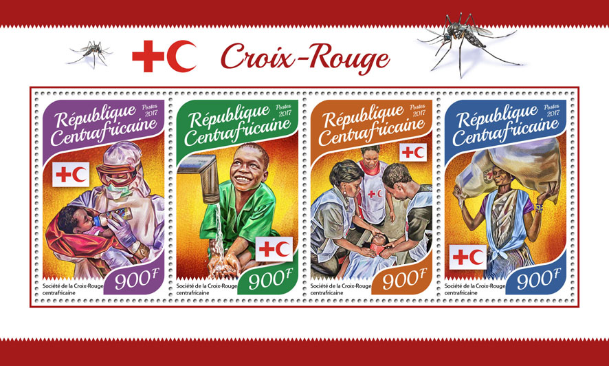 Red Cross - Issue of Central African republic postage stamps