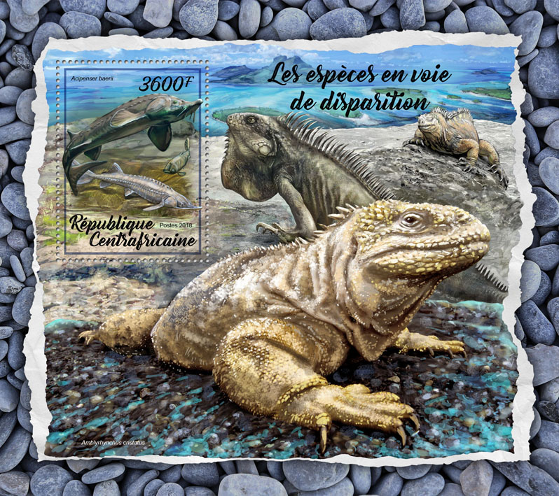Endangered species - Issue of Central African republic postage stamps