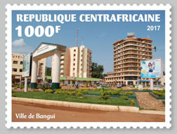 Bangui city - Issue of Central African republic postage stamps