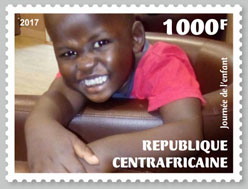 Child's Day - Issue of Central African republic postage stamps