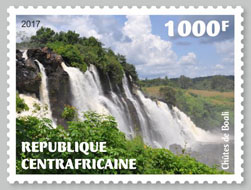 Boali Falls - Issue of Central African republic postage stamps