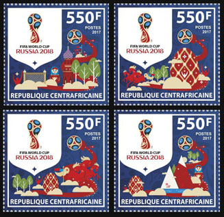 FIFA - Issue of Central African republic postage stamps
