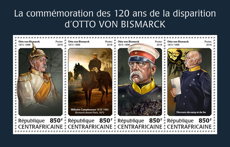 Otto von Bismarck - Issue of Central African republic postage stamps