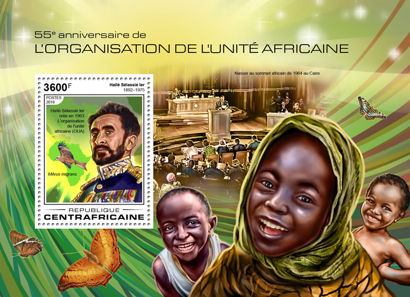 Organization of African Unity - Issue of Central African republic postage stamps