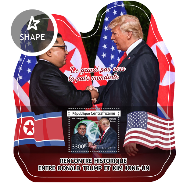 Donald Trump and Kim Jong-un - Issue of Central African republic postage stamps