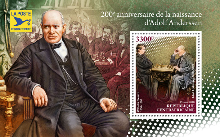 Adolf Andersen - Issue of Central African republic postage stamps