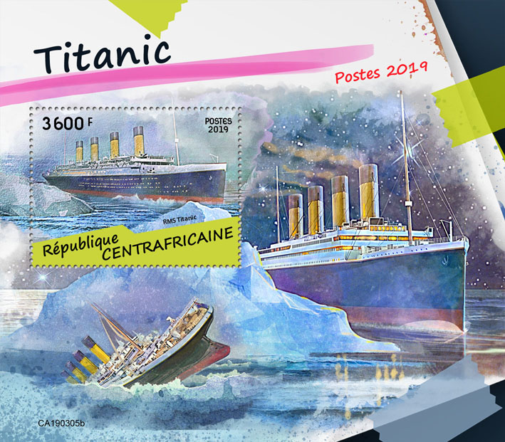 Titanic - Issue of Central African republic postage stamps