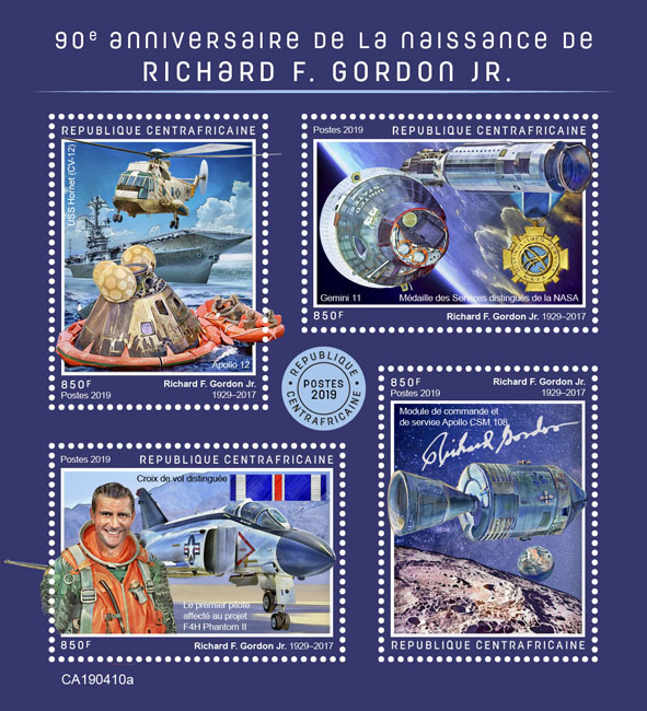 Richard F. Gordon Jr. - Issue of Central African republic postage stamps
