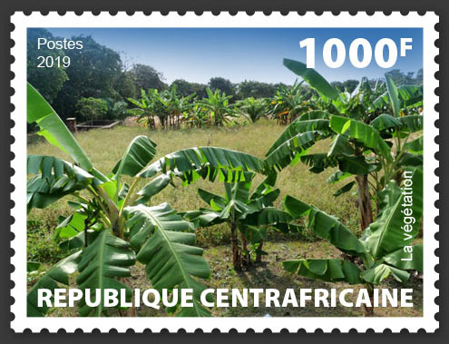 Vegetation - Issue of Central African republic postage stamps
