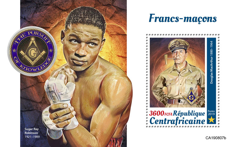 Free-masons - Issue of Central African republic postage stamps