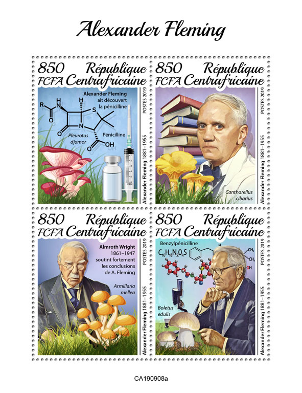 Alexander Fleming - Issue of Central African republic postage stamps