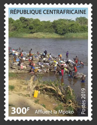 Tribute to Mpoko - Issue of Central African republic postage stamps