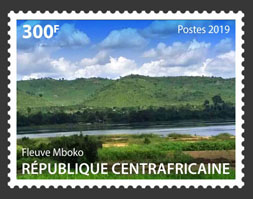 Mpoko stream - Issue of Central African republic postage stamps