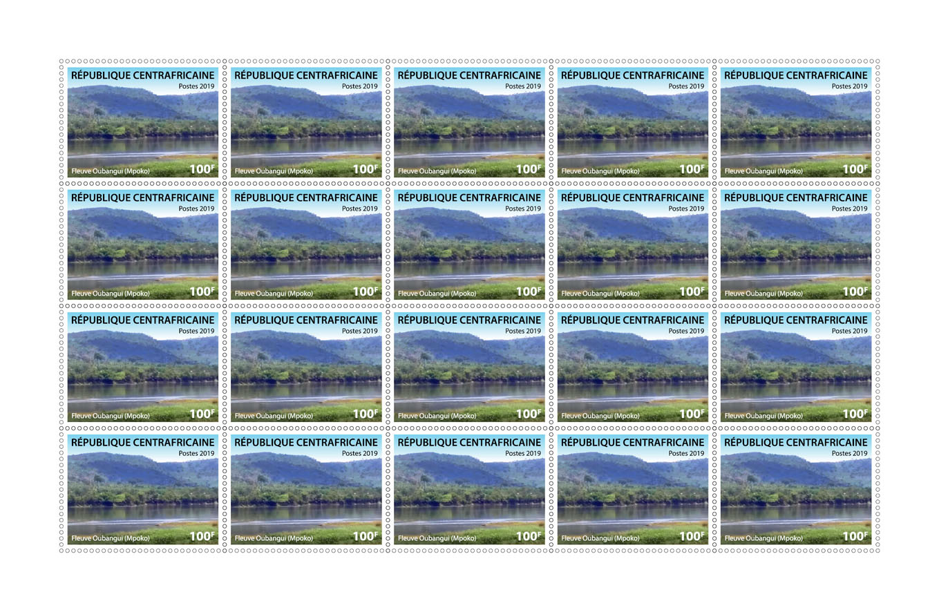 Oubangui stream (Mpoko) - Issue of Central African republic postage stamps